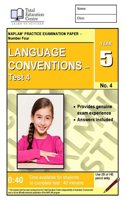 Yr 5 Language Conventions Test 4