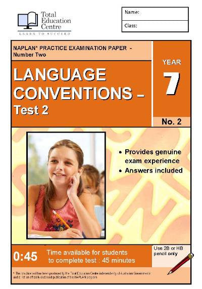 Yr 7 Language Conventions Test 2