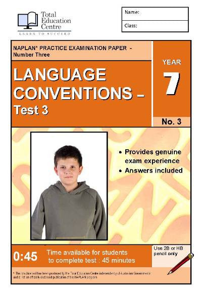 Yr 7 Language Conventions Test 3