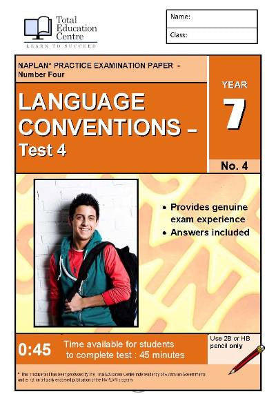 Yr 7 Language Conventions Test 4