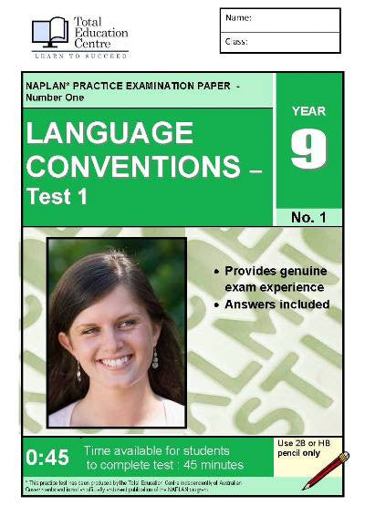 Yr 9 Language Conventions Test 1