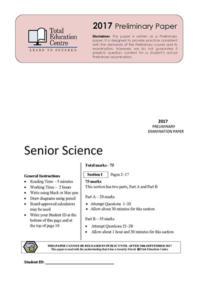 2017 Preliminary Senior Science (Yr 11)