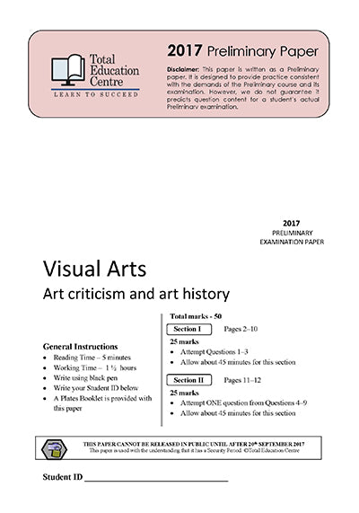 2017 Trial Preliminary (Yr 11) Visual Arts