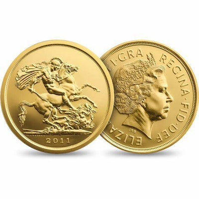 Gold Sovereign Elizabeth II Coin