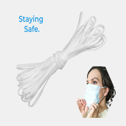 Sew Clothing Mask and Crafts Ribbed Sew Elastic 1//4 inch Elastic For Sewing Masks /& Crafts DIY 20 m // 5mm