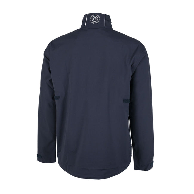 Galvin Green Aden Gore-Tex Paclite Golf Navy Jacket | Back view of jacket