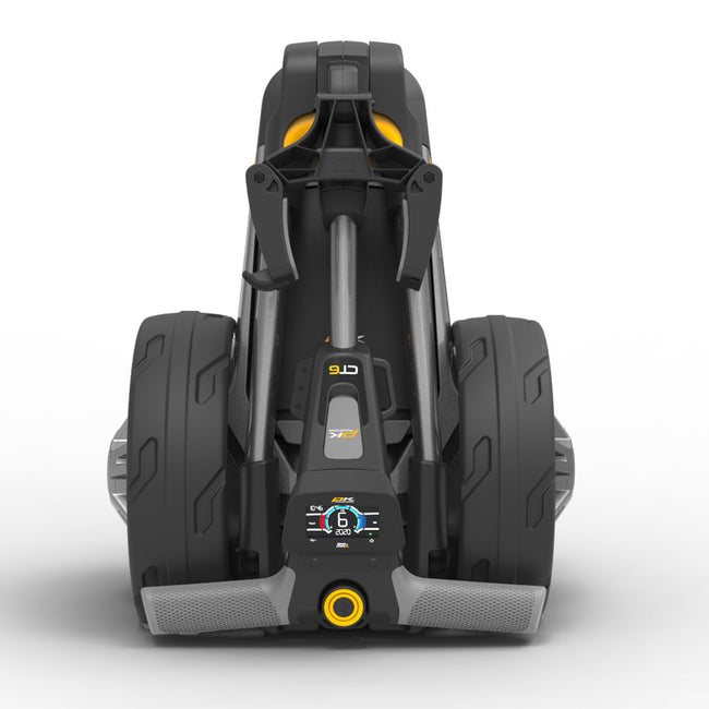 Powakaddy CT6 Lithium Compact Grey Trolley | View of CT6 Folded Front