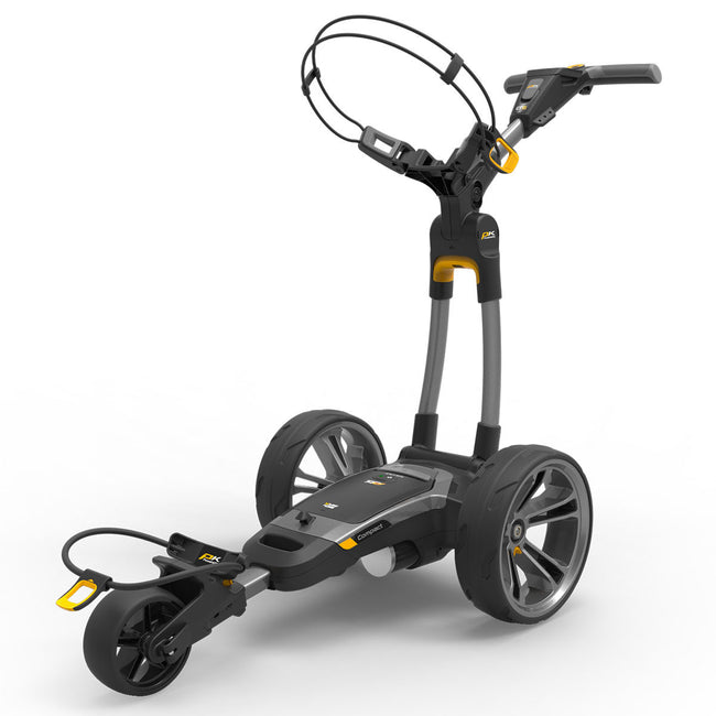 Powakaddy CT6 Lithium Compact Grey Trolley | Front View of CT6