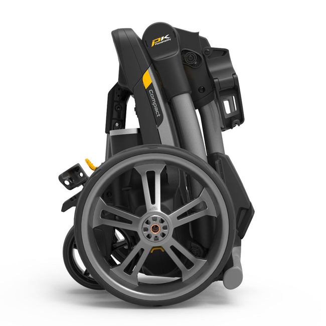 Powakaddy CT6 Lithium Compact Grey Trolley | Side View of CT6 Folded