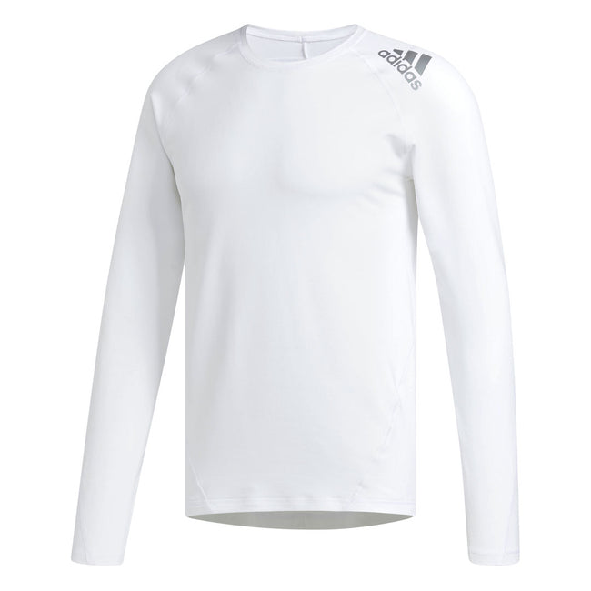 adidas Golf White Climawarm Crewneck | Front View