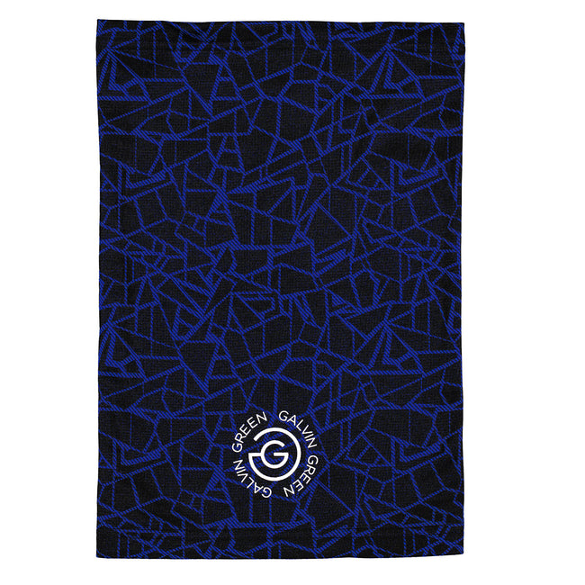 Galvin Green Surf Blue/Black Donny Snood | View of Donny Snood