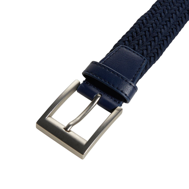 Adidas Golf Braided Collegiate Navy Stretch Belt | Close Up of Buckle