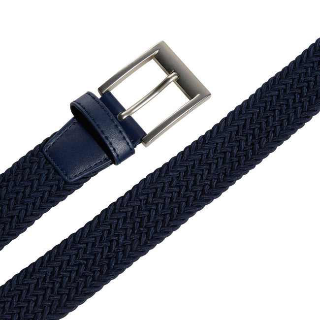 Adidas Golf Braided Collegiate Navy Stretch Belt | Detail View of Buckle & Strap