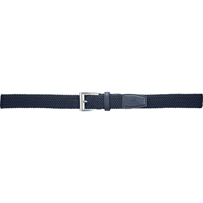 Adidas Golf Braided Collegiate Navy Stretch Belt | Full View of Belt