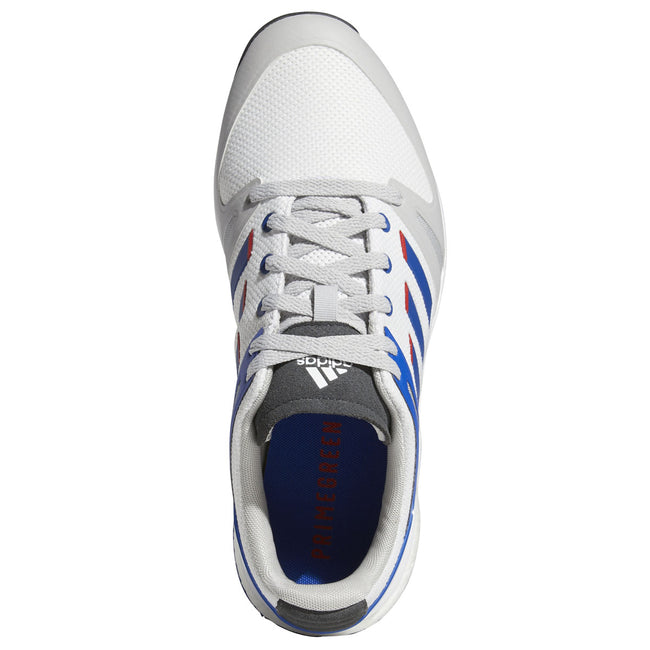 adidas EQT Spikeless Golf Shoes - White/Royal - 2021 | Top view