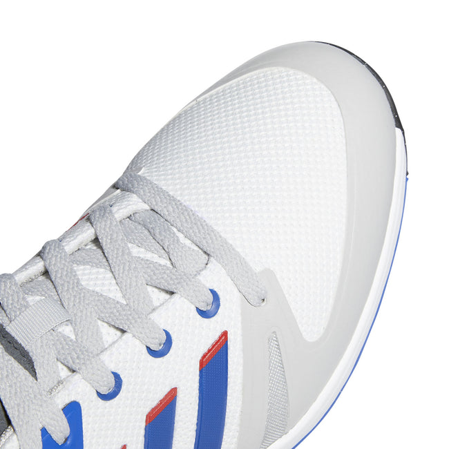 adidas EQT Spikeless Golf Shoes - White/Royal - 2021 | Close up of toe profile