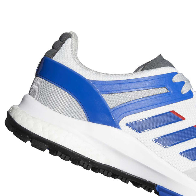 adidas EQT Spikeless Golf Shoes - White/Royal - 2021 | Heel profile