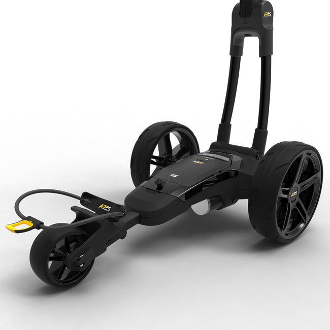 Powakaddy FX3 18 Hole Lithium Black Trolley | View of Battery Compartment
