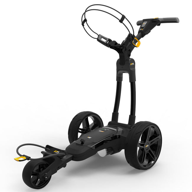 Powakaddy FX3 18 Hole Lithium Black Trolley | Front View of FX3
