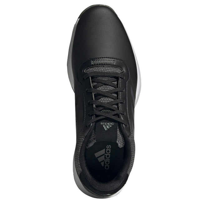 adidas S2G Spikeless Leather Black Golf Shoes - SS21 | Top view