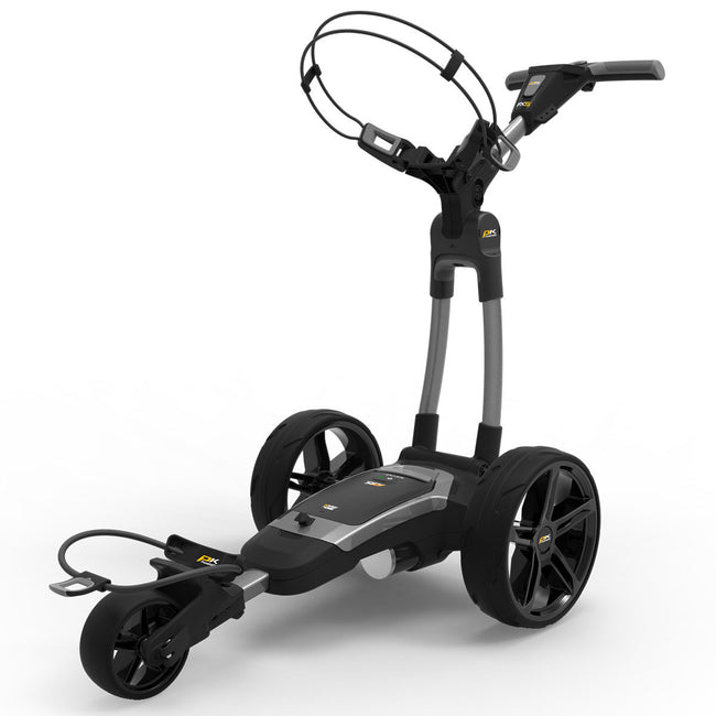 Powakaddy FX5 18 Hole Lithium Grey Trolley | Front View of Trolley