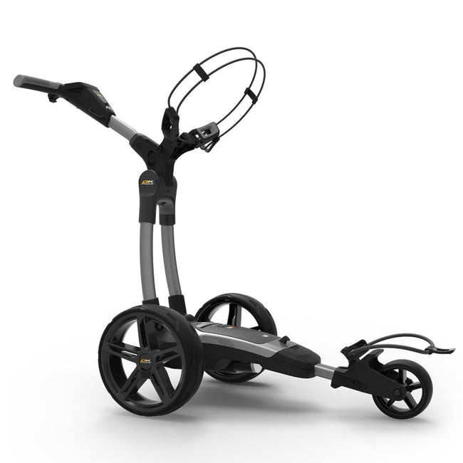 Powakaddy FX5 18 Hole Lithium Grey Trolley | Side View of Trolley
