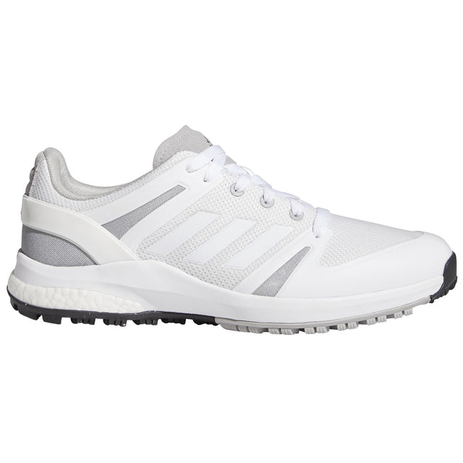 adidas EQT Spikeless Golf Shoes - White/Grey - 2021 | Side view of golf shoes