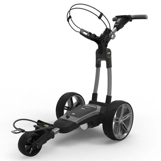 Powakaddy FX7 18 Hole Lithium Grey Trolley | Front View of FX7