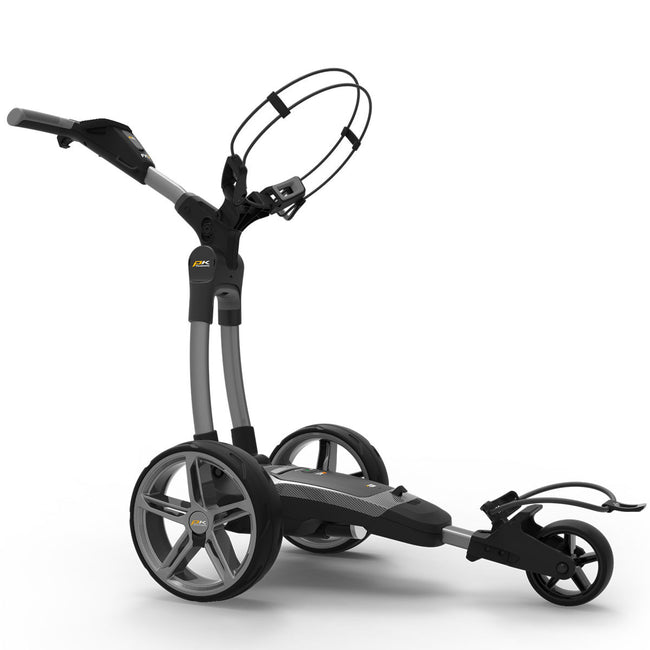 Powakaddy FX7 18 Hole Lithium Grey Trolley | Side View of FX7