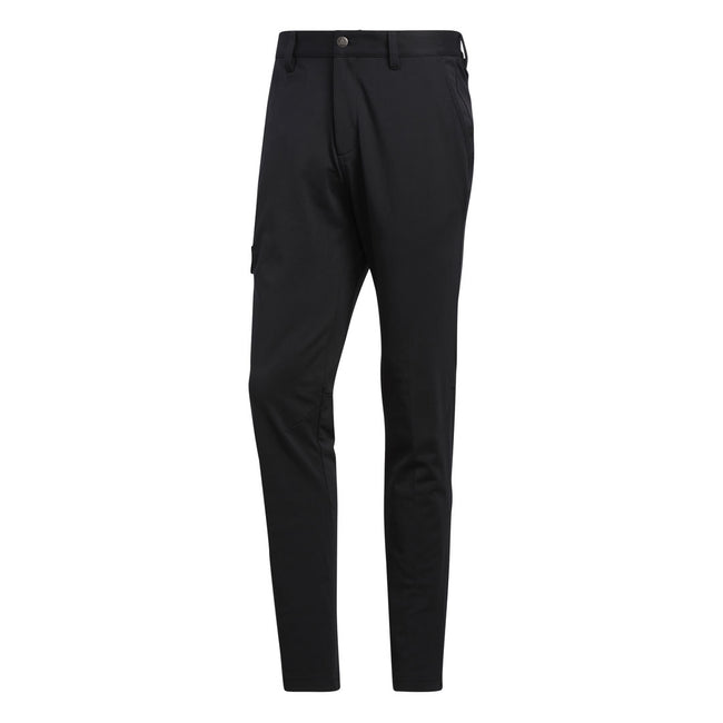 adidas Golf Warpknit Black Navy Cargo Pant | Front view of cargo pants