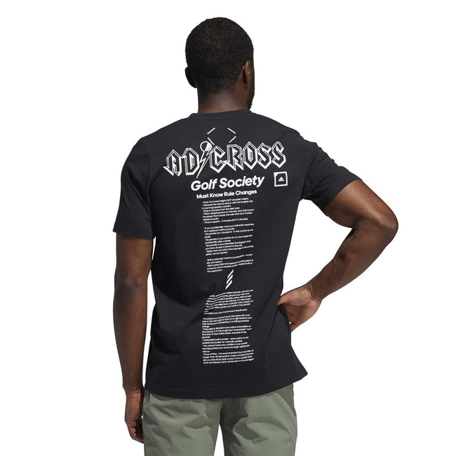 adidas Adicross Graphic T-Shirt in Black - SS21 | Back view of t-shirt