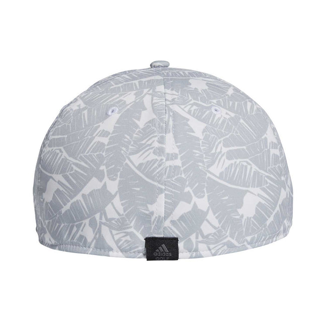 adidas Tour Print Golf Cap - White SS21 | Back view of cap