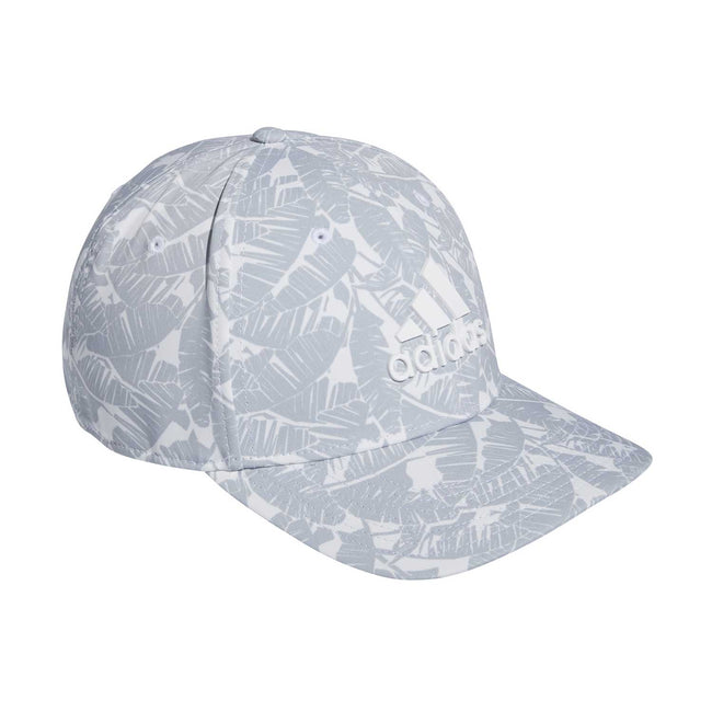 adidas Tour Print Golf Cap - White SS21 | Side view of cap