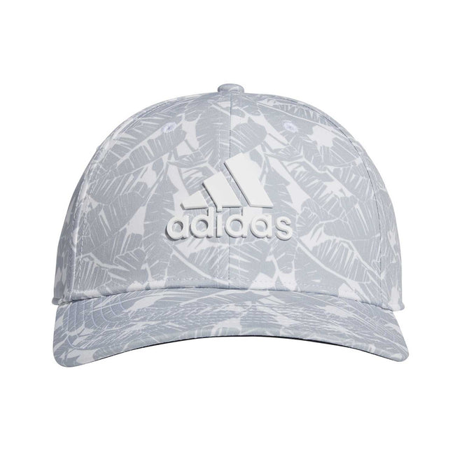 adidas Tour Print Golf Cap - White SS21 | Front view of cap