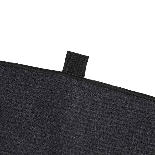 adidas Microfibre Golf Towel - Black SS21 | Detail view of towel clip