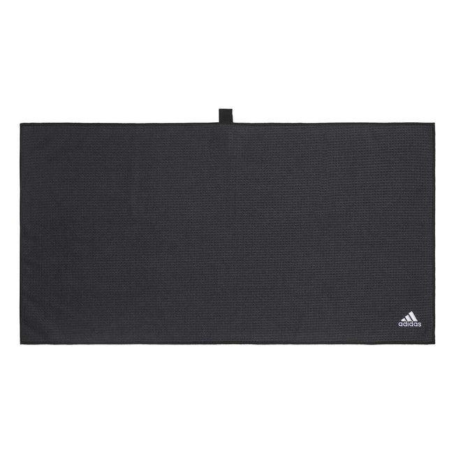 adidas Microfibre Golf Towel - Black SS21 | Overview of golf towel