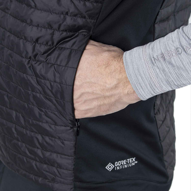 Galvin Green Louie INTERFACE-1 Black Body Warmer | Close up of side pocket detail