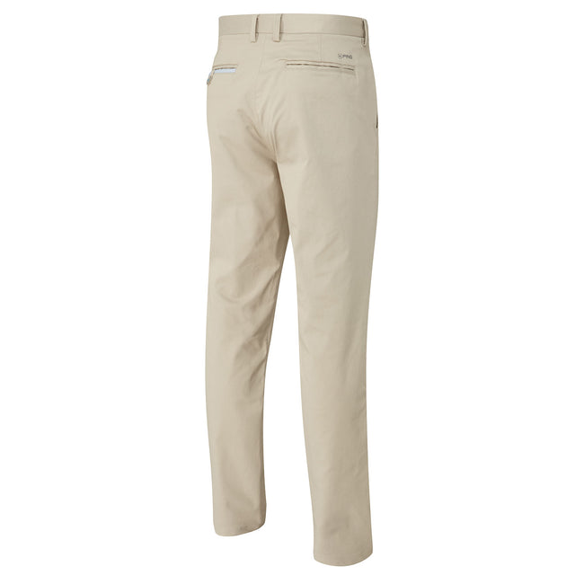 Ping Bennett Chino Style Golf Trousers in Clay - Rear view
