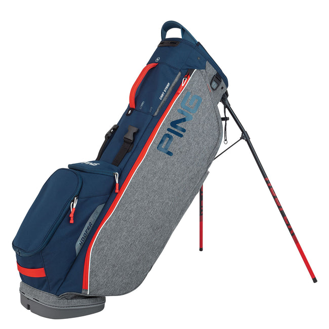 Ping Hoofer Lite Grey/Navy/Scarlet Stand Bag | Overview