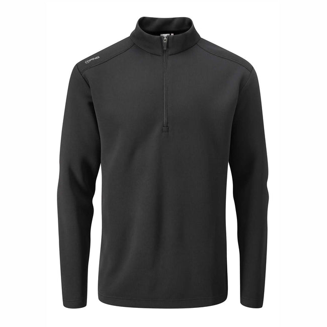 Image of Ping Ramsey Black 1/2 zip pullover - Original Green