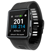 Shot Scope G3 GPS Golf Watch - Black | Front view of GPS watch
