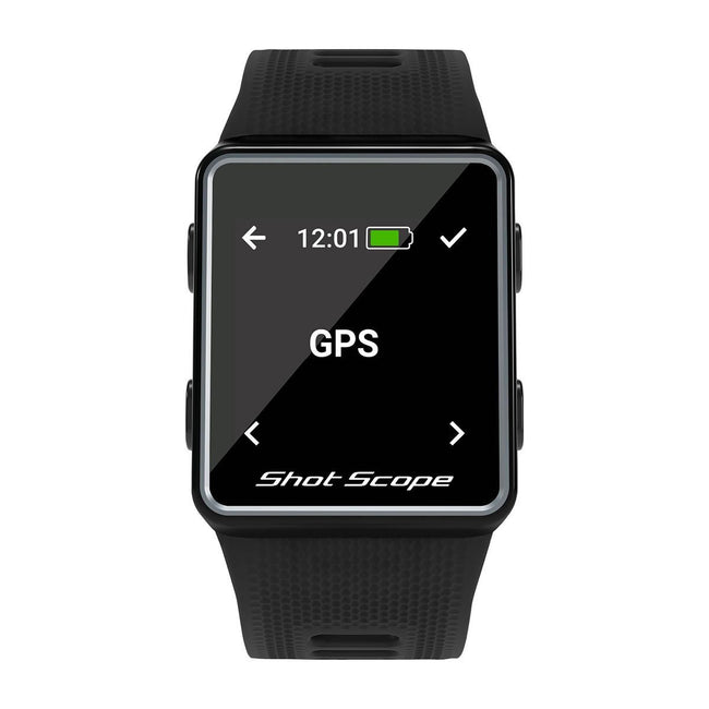 Shot Scope G3 GPS Golf Watch - Black | View of GPS screen