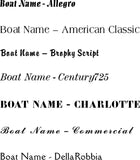 "Custom Boat Name Letters - Reflective - 6"" height"