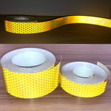 "Oralite V98 Reflective Tape - Yellow - 1"" and 2"" by the foot"