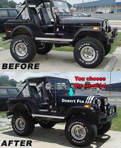 Jeep Graphics Kit- Hood Stripes - Customizable