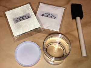 Reflective Paint Kit - Washable, 2 oz paint + Silver & White Reflective Powder