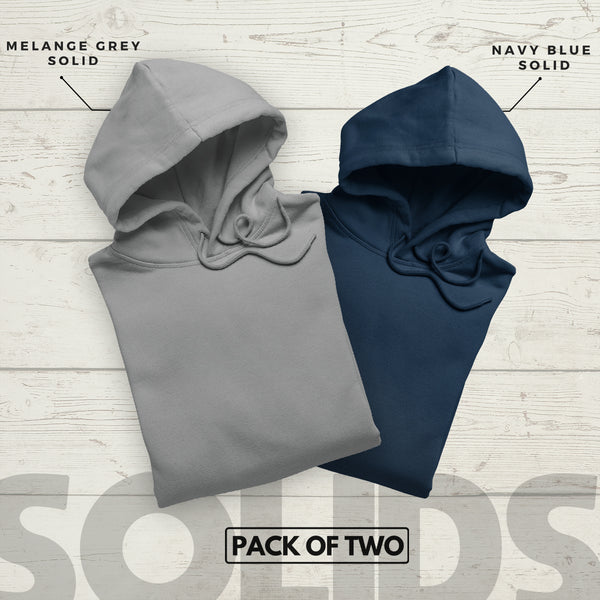 Solid Hoodie Combo (Pack of2)