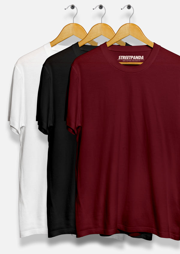 Premium Crew Neck T-Shirts (Pack of Three)