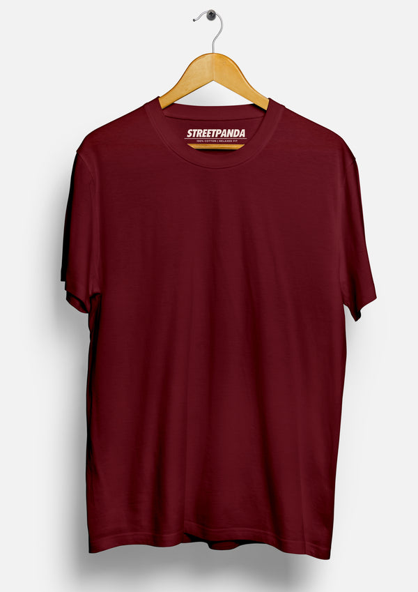 Maroon Solid | Men's T-Shirt