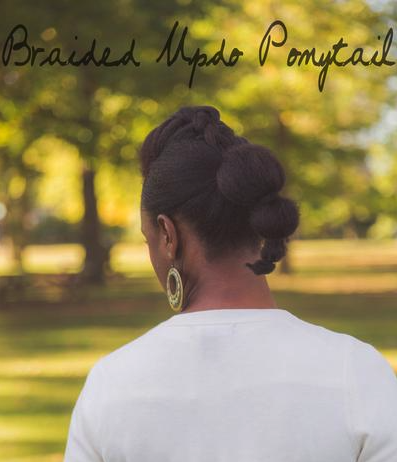 Braided Updo Ponytail